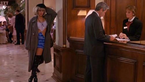 シーン最初の売春婦スタイルのジュリアロバーツ