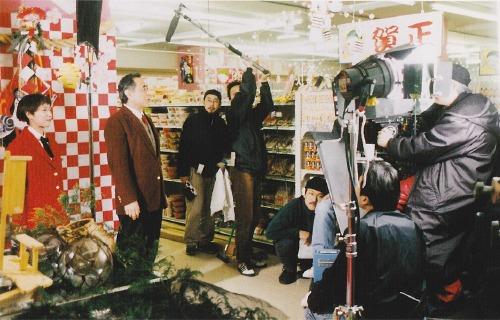 映画「スーパーの女」の撮影風景