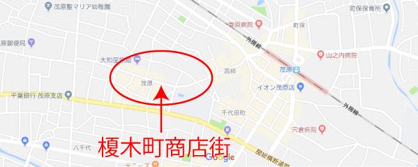 榎木町商店街地図