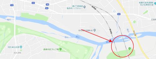 高崎グラフィティ。ロケ地『高崎線鉄橋下の河川敷』