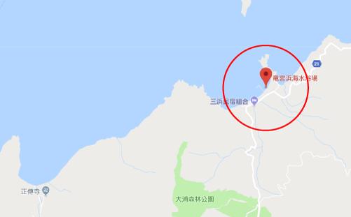 菊とギロチンロケ地『舞鶴市竜宮浜海水浴場』