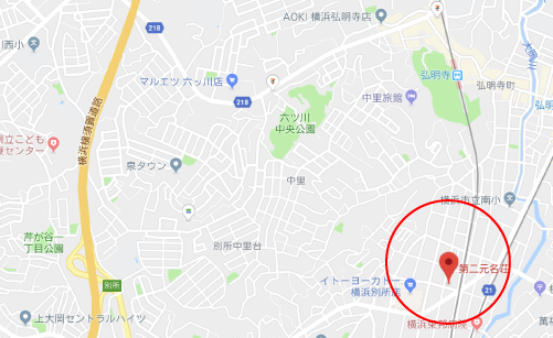 劇場版ドルメンXロケ地『第二元名荘地図』