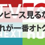 ワンピース見るならHulu/U-NEXT/FOD/dTVどれが一番オトクか徹底比較