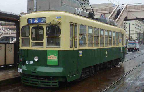 こはくロケ地『長崎電気軌道の路面電車車内』