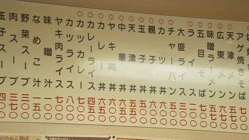 三ちゃん食堂メニュー