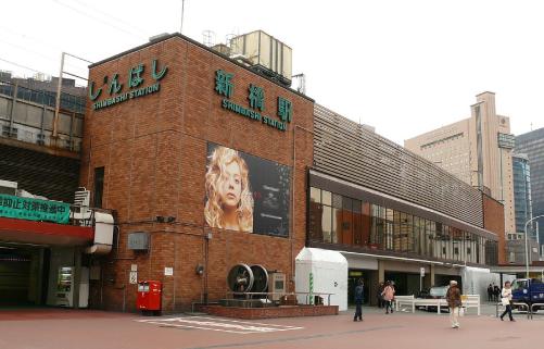 あいあい傘ロケ地『新橋駅』