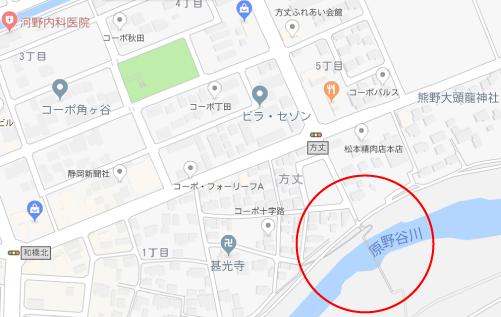 明日にかける橋ロケ地『明日橋地図』