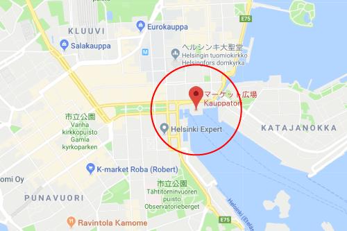 雪の華ロケ地『フィンランド マーケット広場』