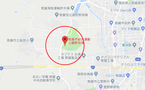 チア☆ダンロケ地『敦賀市総合運動公園野球場』