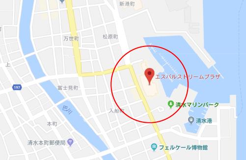 チワワちゃんロケ地『エスパルスドリームプラザグーグルマップ』