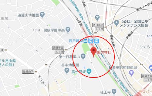 高嶺の花ロケ地『諏訪神社グーグルマップ』