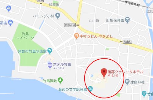 ハゲタカロケ地『蒲郡クラシックホテルグーグルマップ』