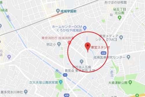 マスカレード・ホテルロケ地『東宝スタジオ8番ステージグーグルマップ』