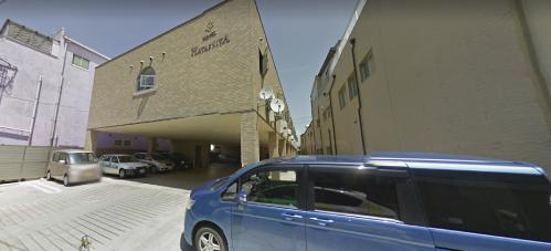 凪待ちロケ地『HOTEL HAYASHIYA駐車場』