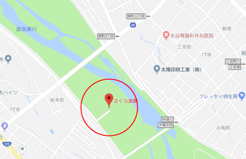 惡の華ロケ地『さくら遊園多目的広場』