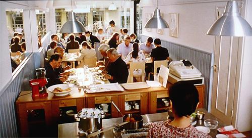 素敵だったかもめ食堂の店内『フロア』